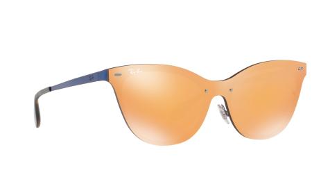 9ee347314cb14 Ray-Ban Blaze Cat Eye RB3580N 90377J 43 óculos de sol - frete grátis ...