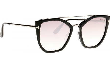 Tom Ford Dahlia FT0648   S 01B 55 óculos de sol - frete grátis ... 8b6e75c422
